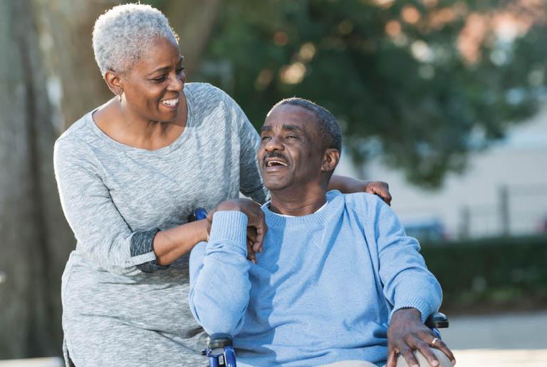 caregiver-wheelchair
